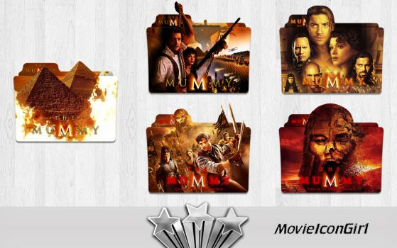 The Mummy Collection Folder Icon Pack by MovieIconGirl