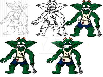 Nelson 'The Grease Goblin' WIP by CrimsonStrife