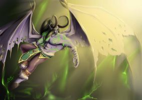 Illidan Stormrage by HowlHeleg