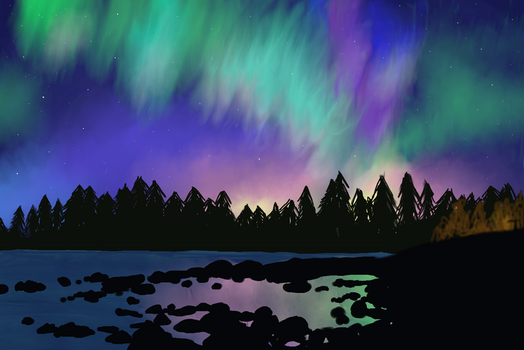 Northern lights by aevrynn