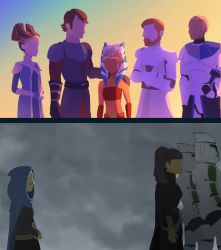 Two young Jedi, two different paths by RaikohIllust