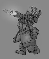 Hobgoblin rider sketch GvG Hearthstone competition by JordyLakiere