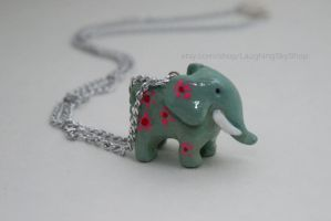 Floral Elephant Necklace by Laughing-Sky