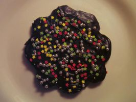 Gingerbread with ganache by diamondie
