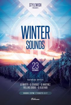 Winter Sounds Flyer by styleWish
