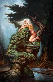 Swamp Thing and Abby by troya3000