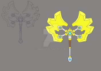 Blue Cross sacred axe concept by Shaboux