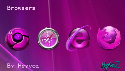 Browsers Pink Icon by Heyvoz