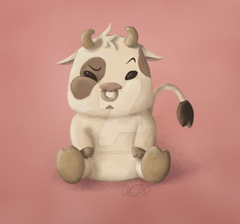 Cute cow by CharlotteHewins