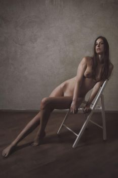 Nude on the chair by Suitcasefotografie