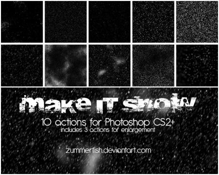 Make it snow!! actions  by zummerfish