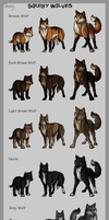Squiby Wolves by Mikaley