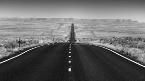 Wanderlust - A Desert Highway by FabulaPhoto