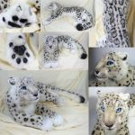 Lifesize Snow Leopard Plush by WhittyKitty