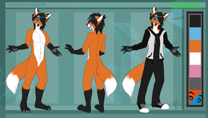 Yasha reference sheet by WolfRoxy