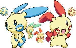 311 - Plusle and 312 - Minun