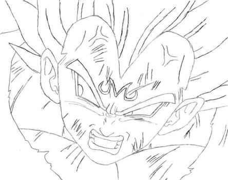 Majin Vegeta 2 WIP by pete-tiernan