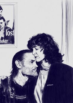 Chet Baker and Diane Vavra by artwarriors