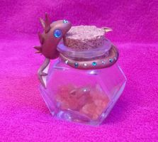 Mother Dragon and her Baby in a Bottle by Airy-Styles