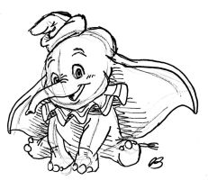 Dumbo Sketch by elyon192