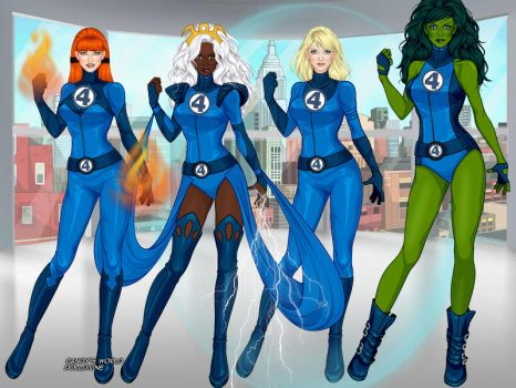 Women of the Fantastic Four by ortrek