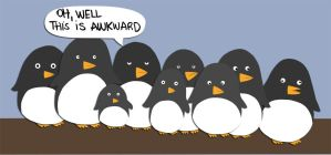 mob of penguins by suguspiranha