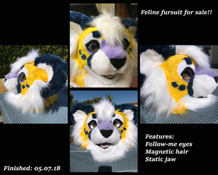 Fursuit premade for sale! by Vaporclaws