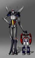 Starscream And Optimus  - Size Correction by M-hourglass