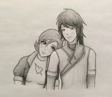 Ren and Nora by Fl00rMaster