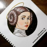 Princess Leia Organa of Alderaan by Anastina91