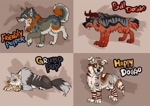 Random Doggo designs 1   - 1 LEFT! by NadiavanderDonk