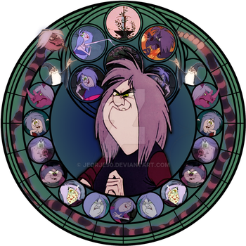 Madam Mim stained glass by jeorje90