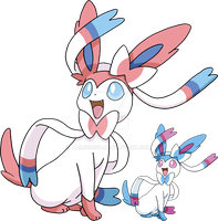 700 - Sylveon - Art v.3 by Tails19950