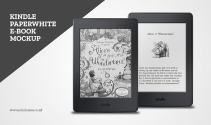 Kindle Paperwhite PSD Mockup by Robot-H3ro