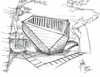 Sunset Chapel   Sketch by Arquimista