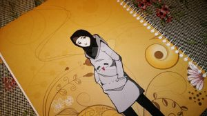 me on the note book by hanabi90