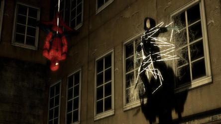 Spiderman webs up the Breather by ErichGrooms3