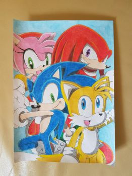 Sonic and Friends by Krisztian1989