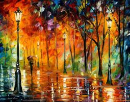 Storm Of Emotions by Leonid Afremov by Leonidafremov