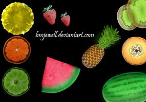 Fruit Brushes by bmjewell-stock