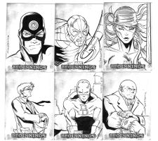 Marvel sketch cards 4 by victoroil