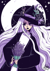 Lavender Witch by poliip