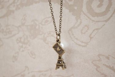 Love Eiffel Tower France Bronz by YourSweetTreat