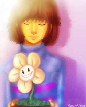 The innocent and the flower by Rumay-Chian