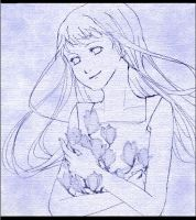 Hinata with flowers by Scories-mito
