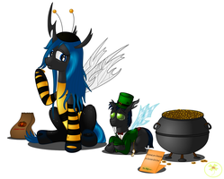 Luna Clearwing and Flik Hallowen 2015 by Lakword
