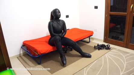 My Leather Straitjacket! 30 Minutes! by FragileDesires