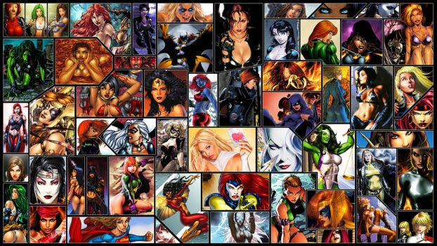 Women of Comics Wallpaper by Helixwolf