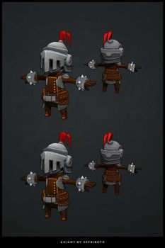 Knight low poly 3D by Sephiroth-Art