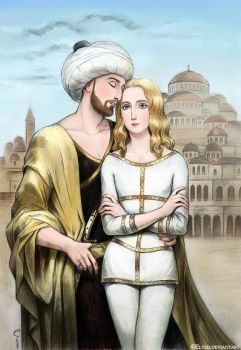 Mehmed II and Jacob Notaras by Elveo